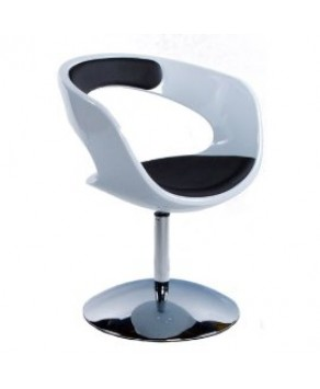 Home Deco -  Chair White/Black- (AC00370WHBL)